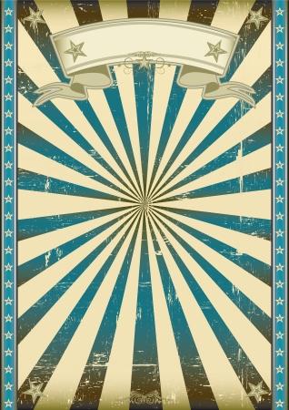 Foto de A vintage blue poster with a texture  - Imagen libre de derechos
