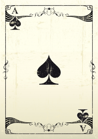 An Ace Of Clubs with a texture