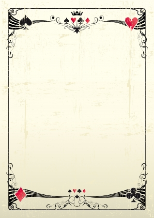A grunge card frame for a poster