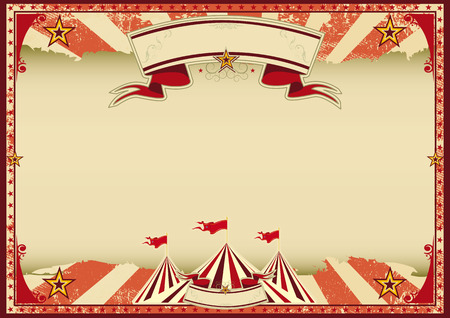 A red vintage circus background for a poster