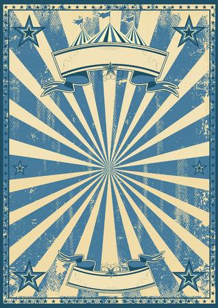 Illustration pour A blue vintage circus background for a poster - image libre de droit