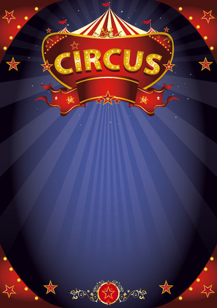 A circus background poster with a sign  in the night for your entertainment.