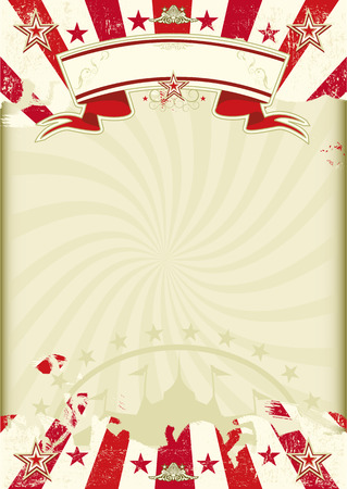 Illustration pour A circus background WAS kraft paper with grunge red sunbeams. Ideal poster for your show - image libre de droit