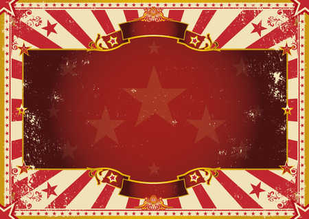 Photo pour a vintage poster with red sunbeams for your advertising. Perfect size for a screen. - image libre de droit