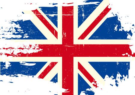 Illustration pour An english flag with a grunge texture - image libre de droit