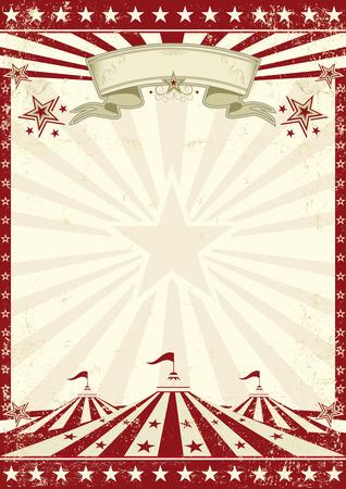 Illustration pour A vintage circus background with sunbeams for your entertainment - image libre de droit