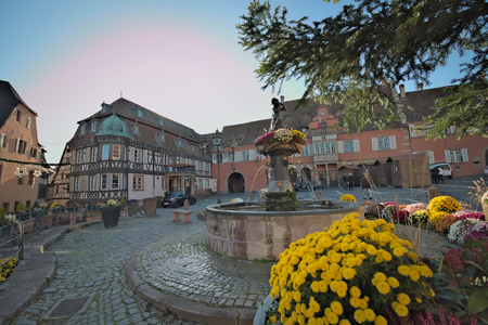 BARR, ALSACE, FRANCE, NOVEMBER 28, 2016 Atmosphere at Barr,Alsace : Alsatian village before Christmas, This village get start to setup the tradition wonderful Christmas markets.