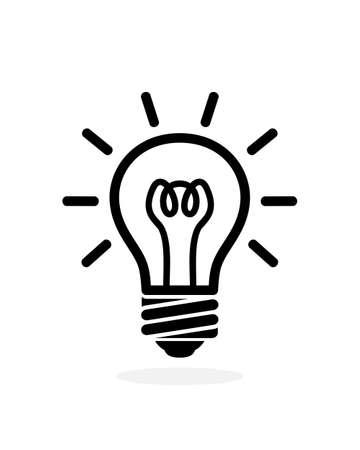 Illustration pour light bulb outline icon. Vector logo bulb isolated on white background - image libre de droit