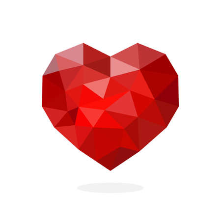 Illustration for Heart polygon art image. vector illustration - Royalty Free Image