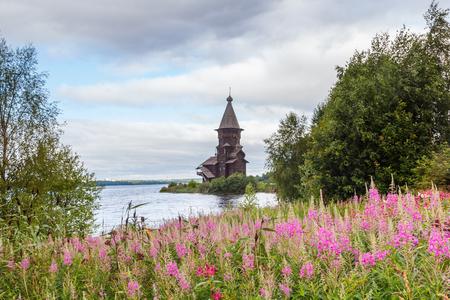Ancient Uspenskaya church in city Kondopoga, Karelia