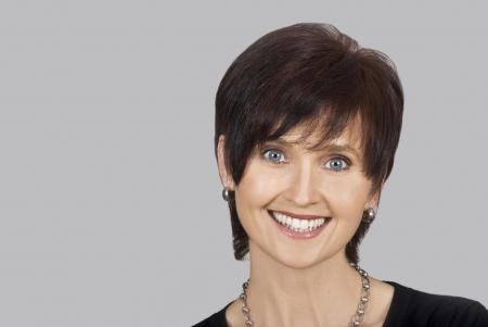 Foto für Close up portrait of a happy smiling woman - Lizenzfreies Bild