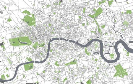 Illustration pour Vector map of the city of London, Great Britain - image libre de droit