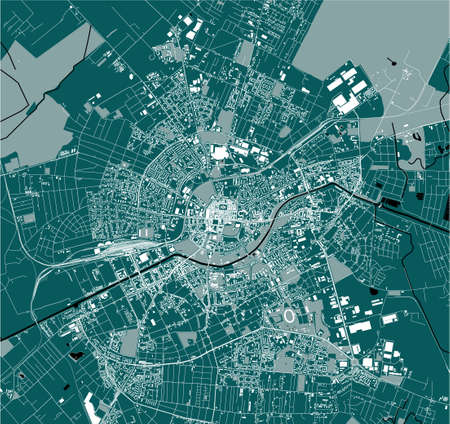 Illustration for map of the city of Timisoara, Romania - Royalty Free Image