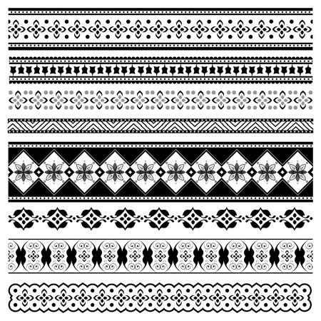 Set of elegant borders for design