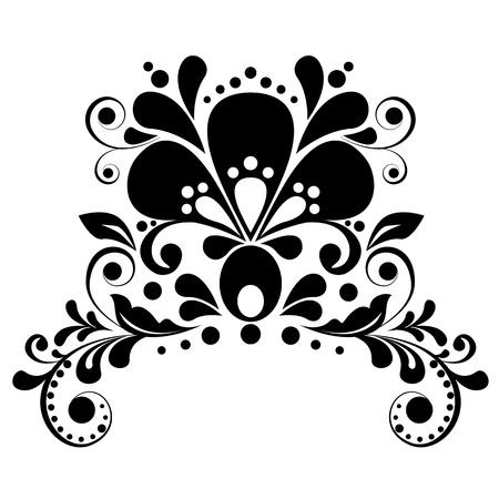 Elegant floral design element