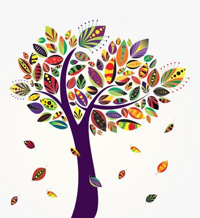 Vector cute tree
