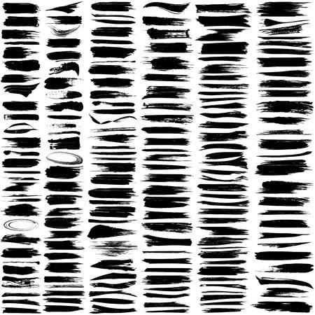 Illustration pour Large set of 180 different grunge brush strokes   - image libre de droit