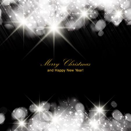 Illustration pour Silver sparkle glitter background. Sparkling flow background. - image libre de droit