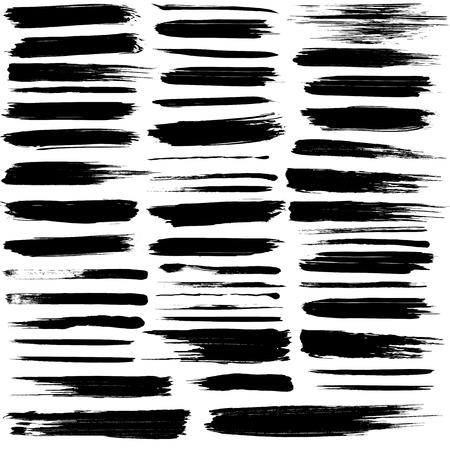 Ilustración de Set of grunge brush strokes - Imagen libre de derechos