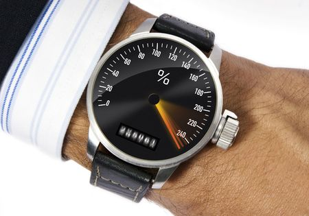 Wrist watch to measure the stress