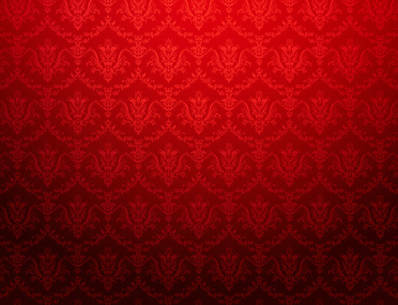 Photo for Vintage red wallpaper with floral pattern - Royalty Free Image