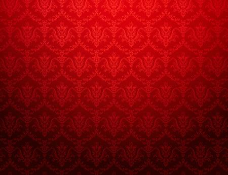 Foto de Vintage red wallpaper with floral pattern - Imagen libre de derechos
