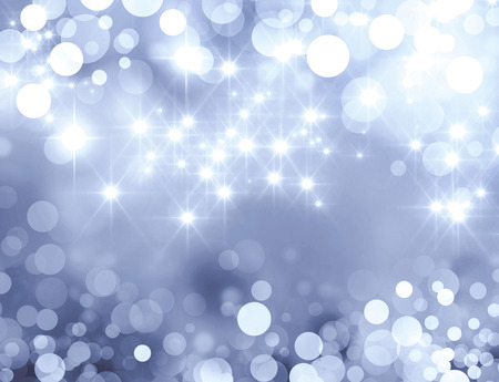 Shiny silver background in starlight and sparkles