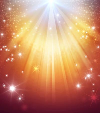 Photo pour Shiny gold background with star lights raining down - image libre de droit