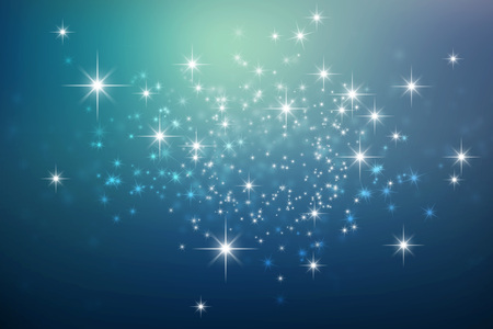 Photo for Shiny blue night background with star lights explosion - Royalty Free Image