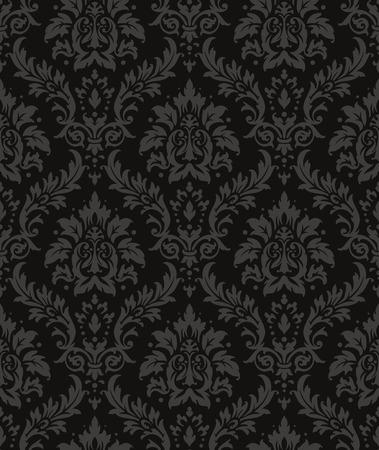 Ilustración de Old style damask wallpaper. Seamless vector floral patterns. - Imagen libre de derechos