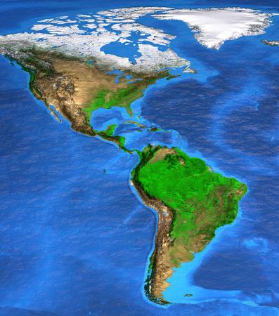 on south america satellite map