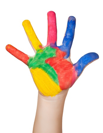 Photo for painted colorful hand  isolated - Royalty Free Image