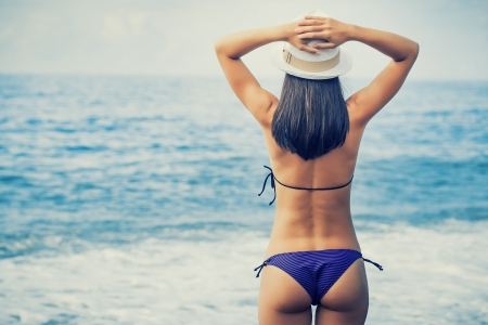 woman is enjoying with sea view
