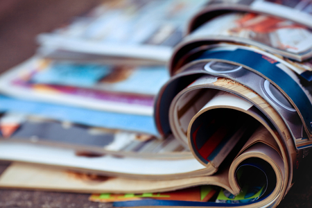 Photo for Stack of magazines - Royalty Free Image