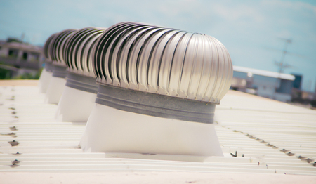 Photo pour Ventilators on roof - image libre de droit