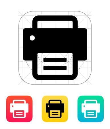 Text print icon. Vector illustration.