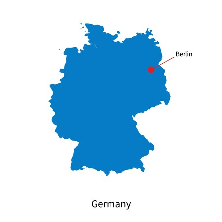 Detailed map of Germany and capital city Berlin