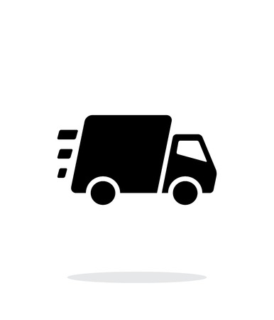 Fast delivery Truck icon on white background.