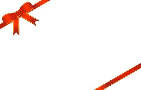 Illustration pour Illustration of red ribbon ornament - image libre de droit