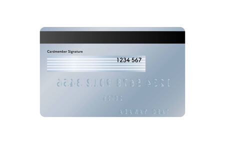 Illustration for Illustration of the back side of a credit card (blue) - Royalty Free Image