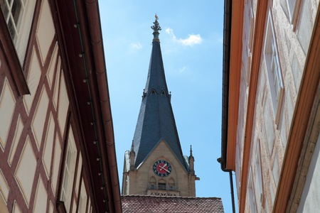 The historical old town MöckmÌhl at the Jagst