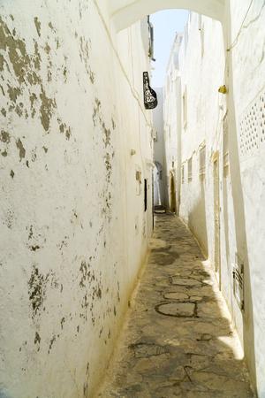 In a narrow alley in the medina of Hammamet in Tunisia