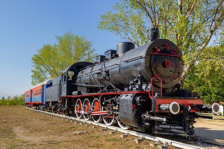 Foto de Old steam black train locomotive - Imagen libre de derechos