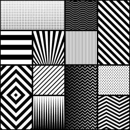 Illustration pour Modern seamless geometric pattern vector design. - image libre de droit