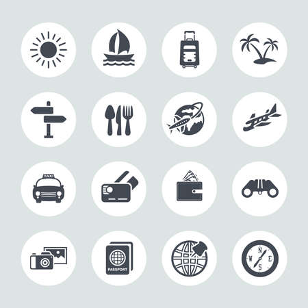 Illustration for Travel Icons Set - Royalty Free Image