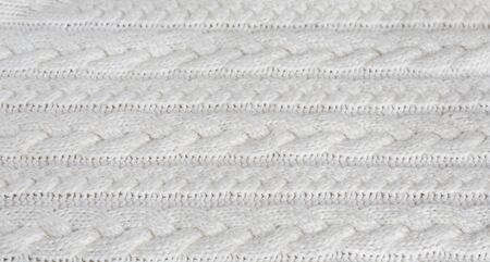 Photo pour Knitted warm white winter sweater. Huggy style - image libre de droit