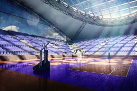 3d basketball arena Render