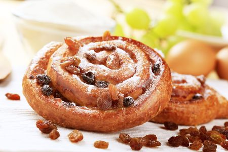 Danish pastry with raisins