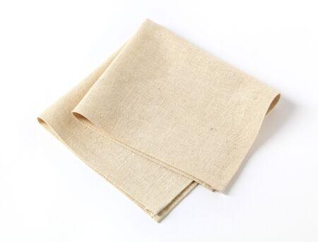 Small folded linen napkin