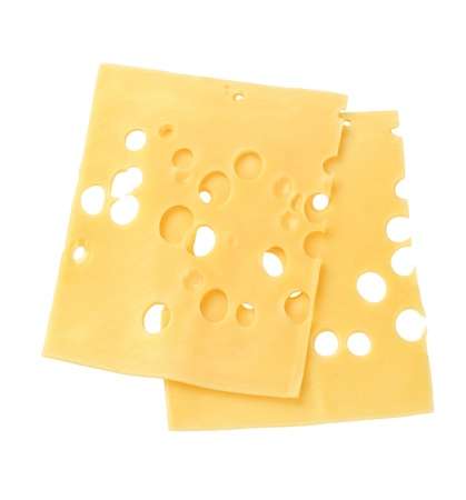 Thin slices of Swiss cheese - studio